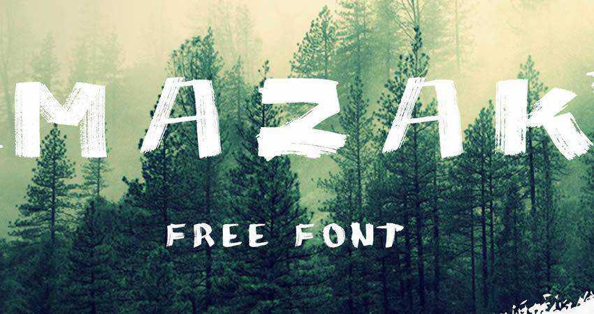 MAZAK Font family handwritten hand-drawn font free
