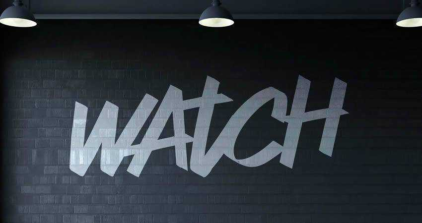 Watch hand-drawn font free