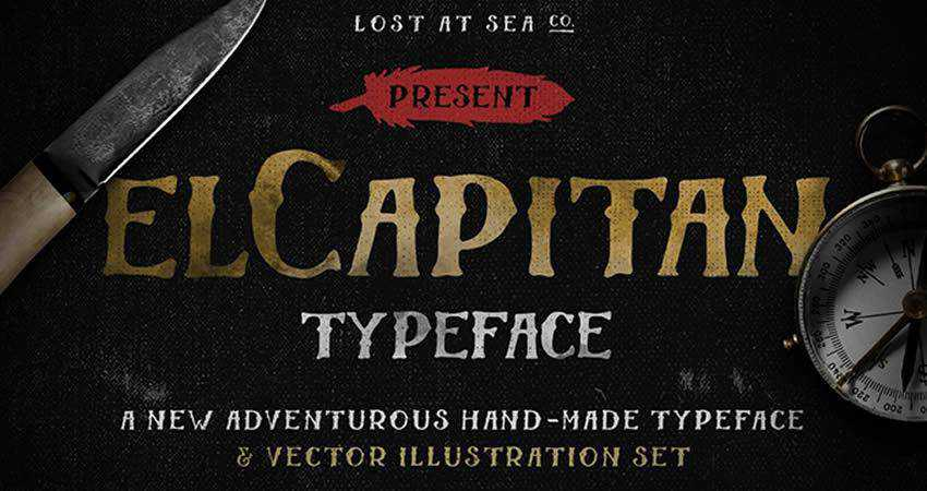 El Capitan Hand-Drawn free Font hand-drawn font free