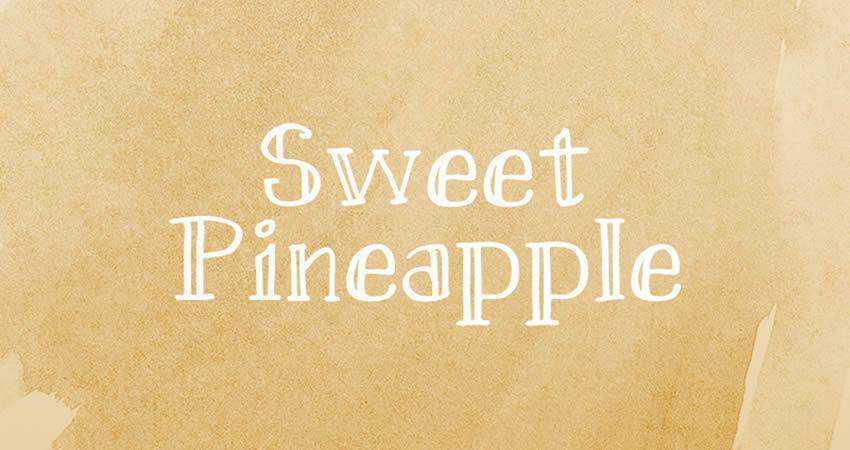 Sweet Pineapple Hand-Drawn free Serif hand-drawn font free