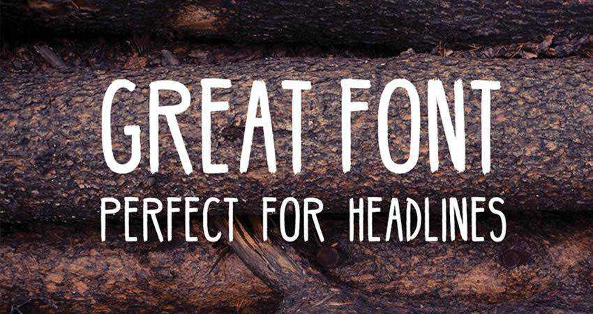 Handmade Hipster Font free hand-drawn font free
