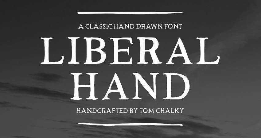 Liberal Hand Serif Free Font hand-drawn font free