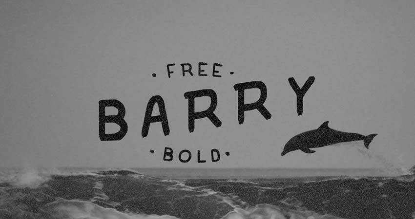 Barry Free handwritten Font Bold hand-drawn font free