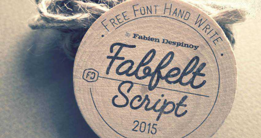 Fabfelt Handwritten Script free font hand-drawn font free