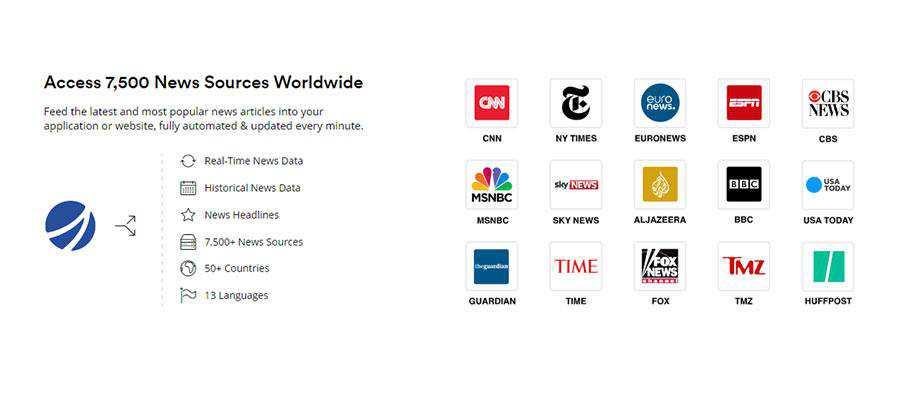 mediastack News Service Listing