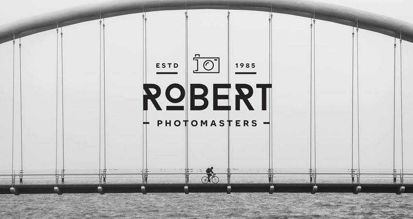 Modern photography photographer logo design inspiration