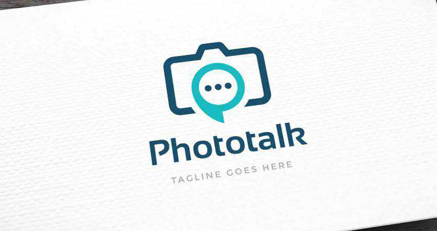 Phototalk photography photographer logo design inspiration