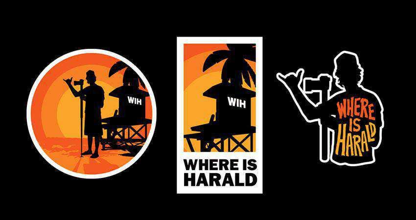 Where is Harald photography photographer logo design inspiration
