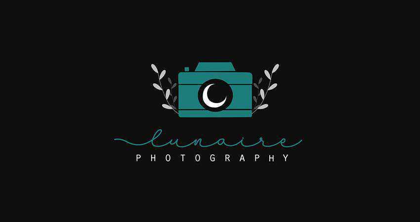 Lunaire photography photographer logo design inspiration