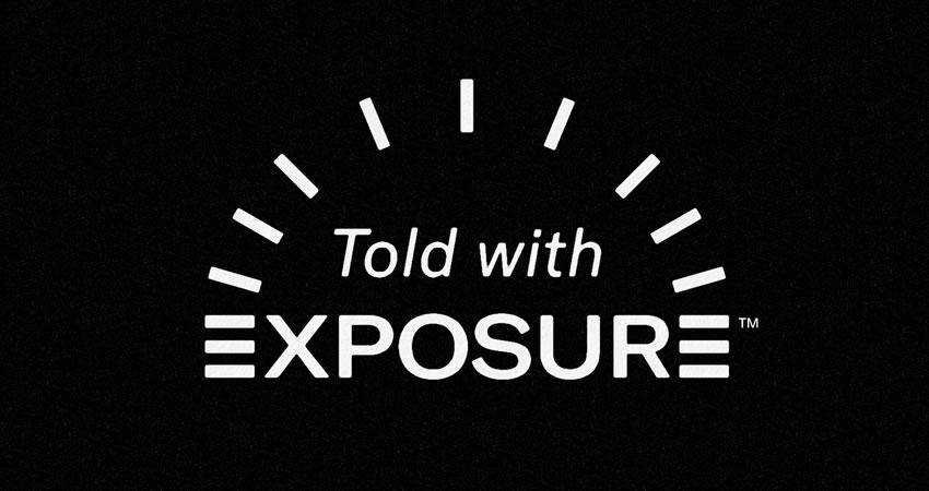 Told with Exposure photography photographer logo design inspiration