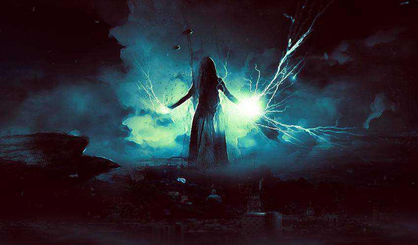 Dark Power Unleashed tutorial Surreal Digital Art in Photoshop