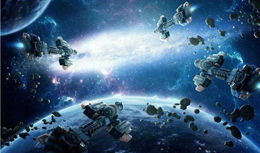 A Space Battle Scene in Photoshop