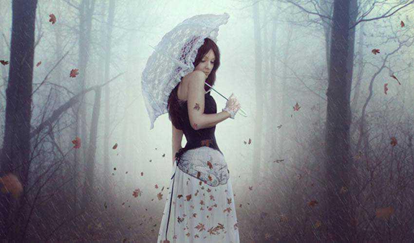 An Emotional Autumn Scene Photo Manipulation