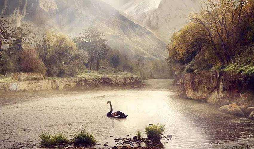 A Serene Fantasy Photo Manipulation