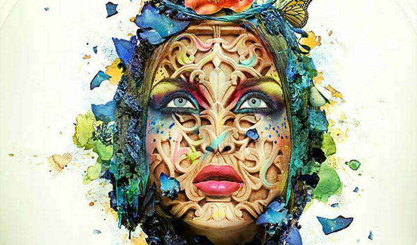 Beautiful Abstract Portrait tutorial in Photoshop