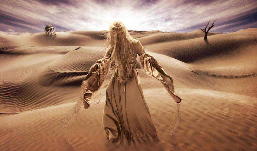 Surreal Desert Scene tutorial in Photoshop