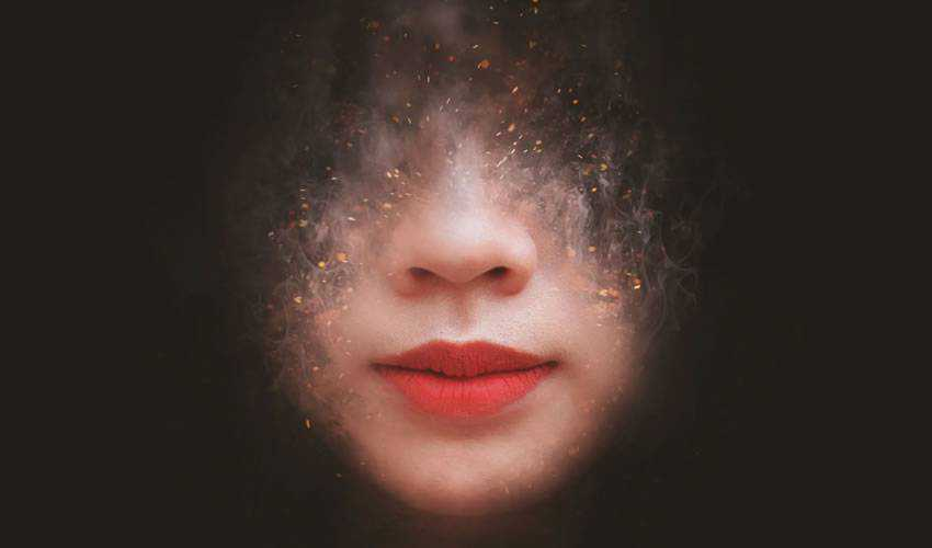 Artistic Smoke Portrait Photo Effect