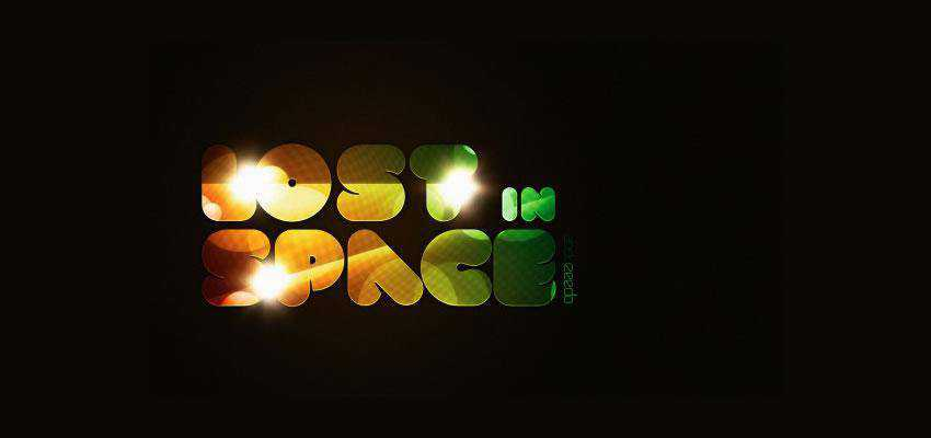 Lost in Space Typography text effect adobe photoshop tutorial