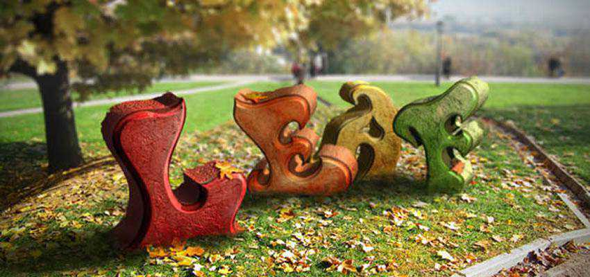 this tutorial will explain how to use those new 3D features to create an amazing autumn-themed 3D text effect