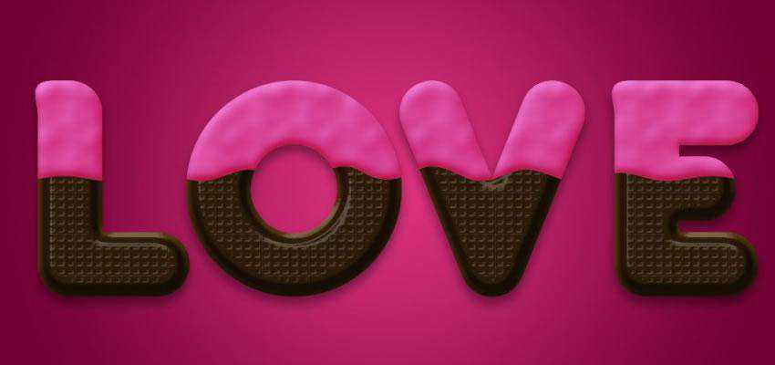 This Valentines themed tutorial will show you how to create a scrumpicous chocolate text effect