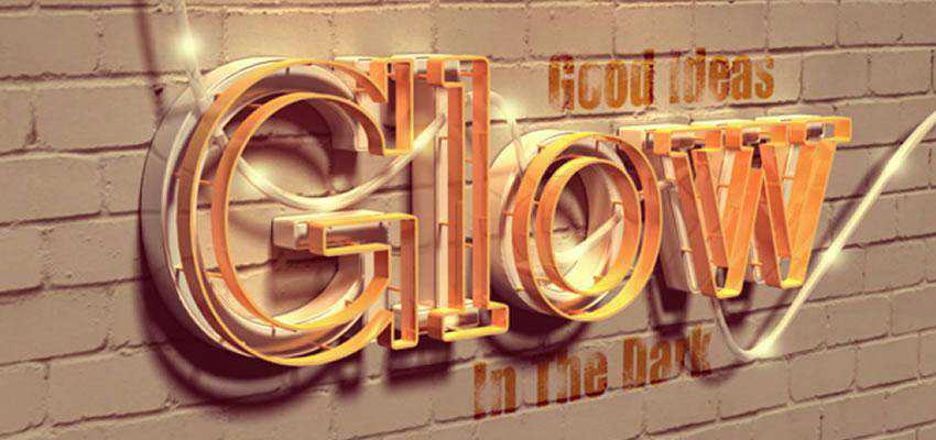 you will be shown how to combine Photoshop with Filter Forge to create a glowing 3D text effect