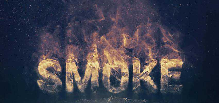 Smoke Logo Photoshop Text Effect