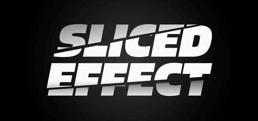 Sliced Letters Text Effect