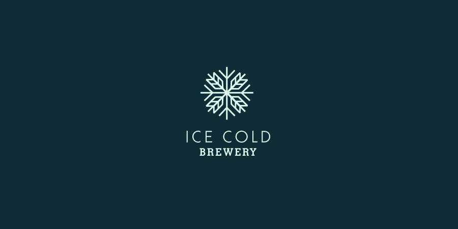 Ice Cold Brewery symmetrical logo design inspiration