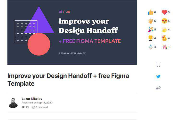 Example from Improve your Design Handoff + free Figma Template