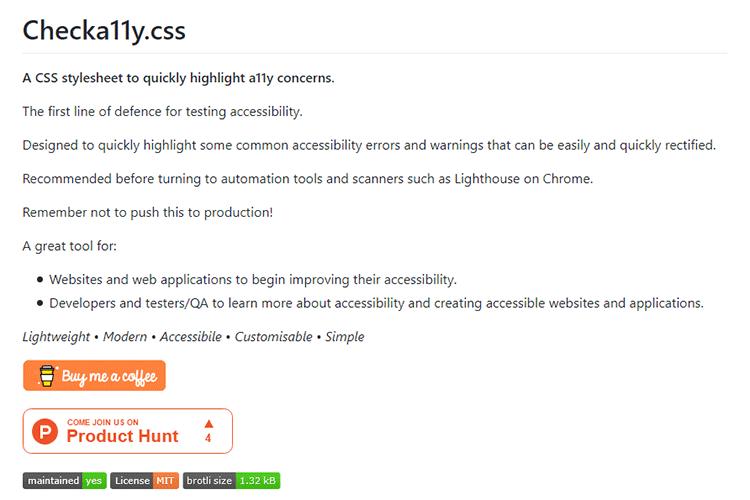Exemple de Checka11y.css