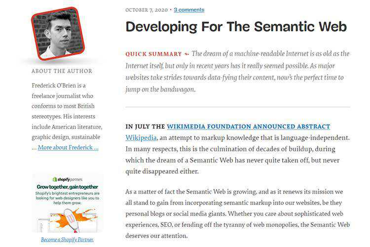 Example from Developing For The Semantic Web