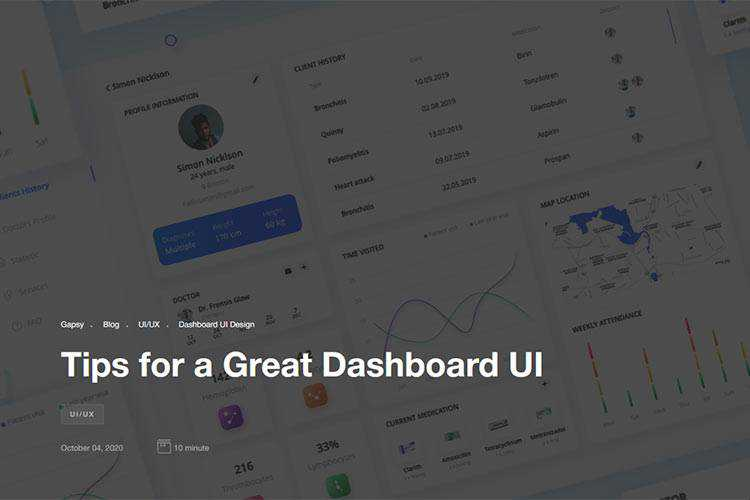 Example from Tips for a Great Dashboard UI
