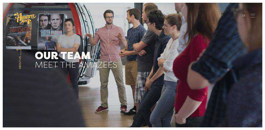 Amazee Labs about team employee page web design inspiration