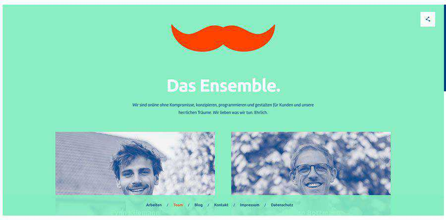 Herrlich Media about team employee page web design inspiration