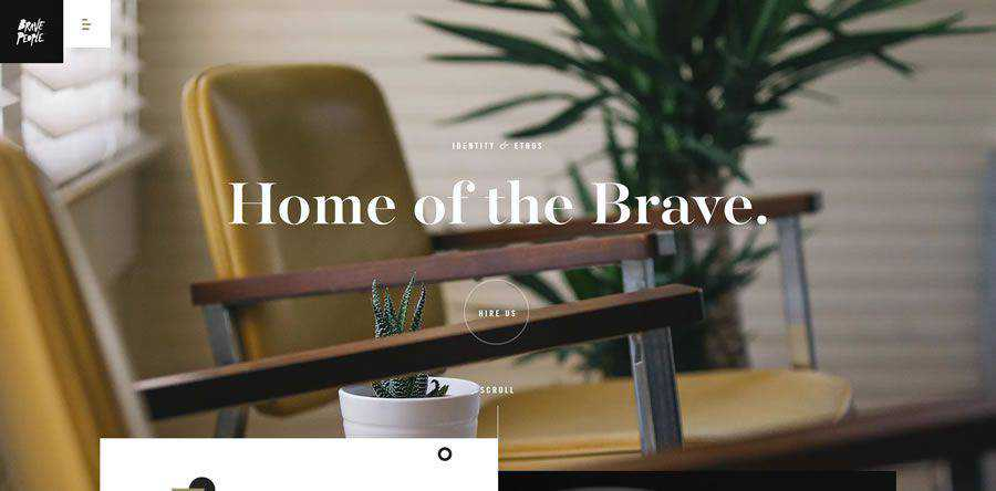 Brave People about team employee page web design inspiration