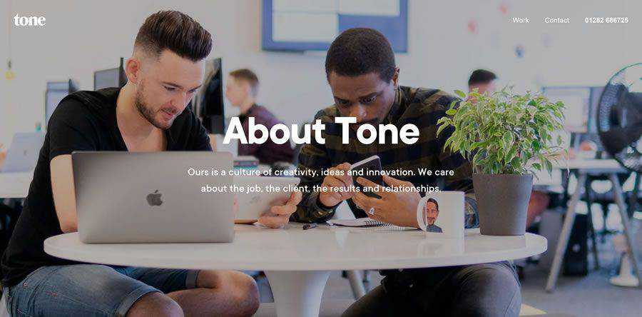 Tone about team employee page web design inspiration