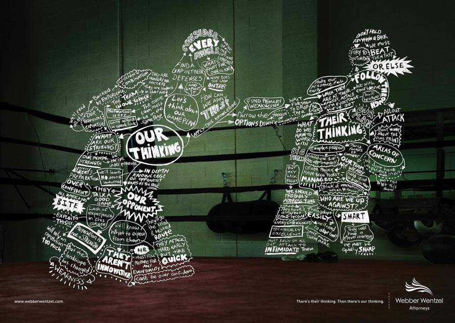 The Webber Wentzel Attorneys Boxer inspirational Typography in Print Ads
