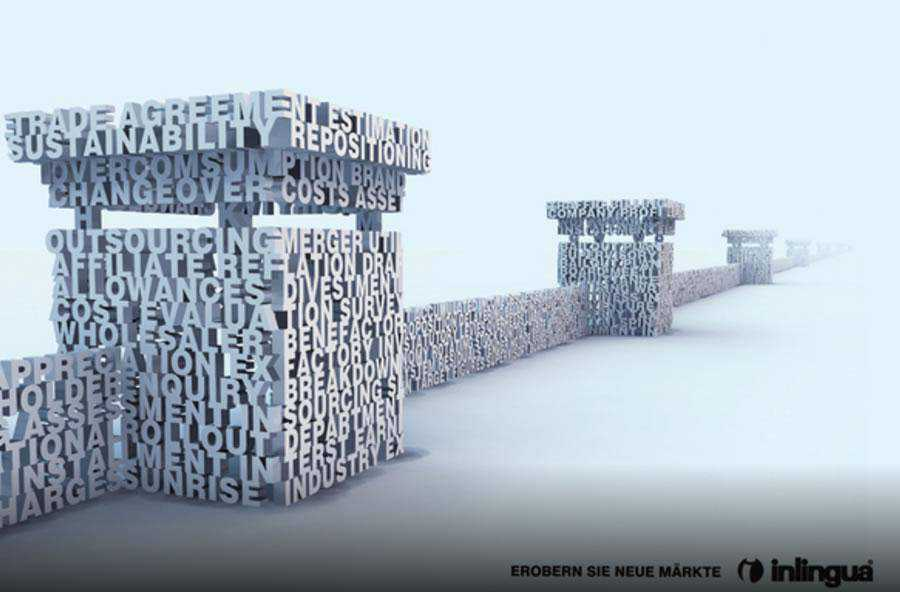 The Inlingua - Business English inspirational typography print ads