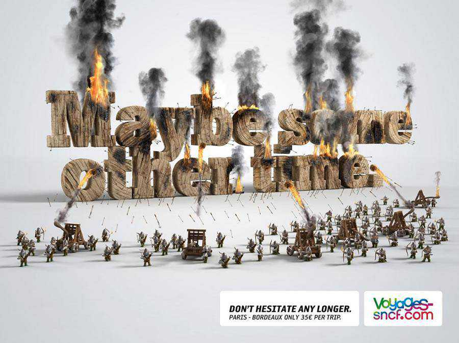 The Voyages-Sncf.com - Other time inspirational typography print ads