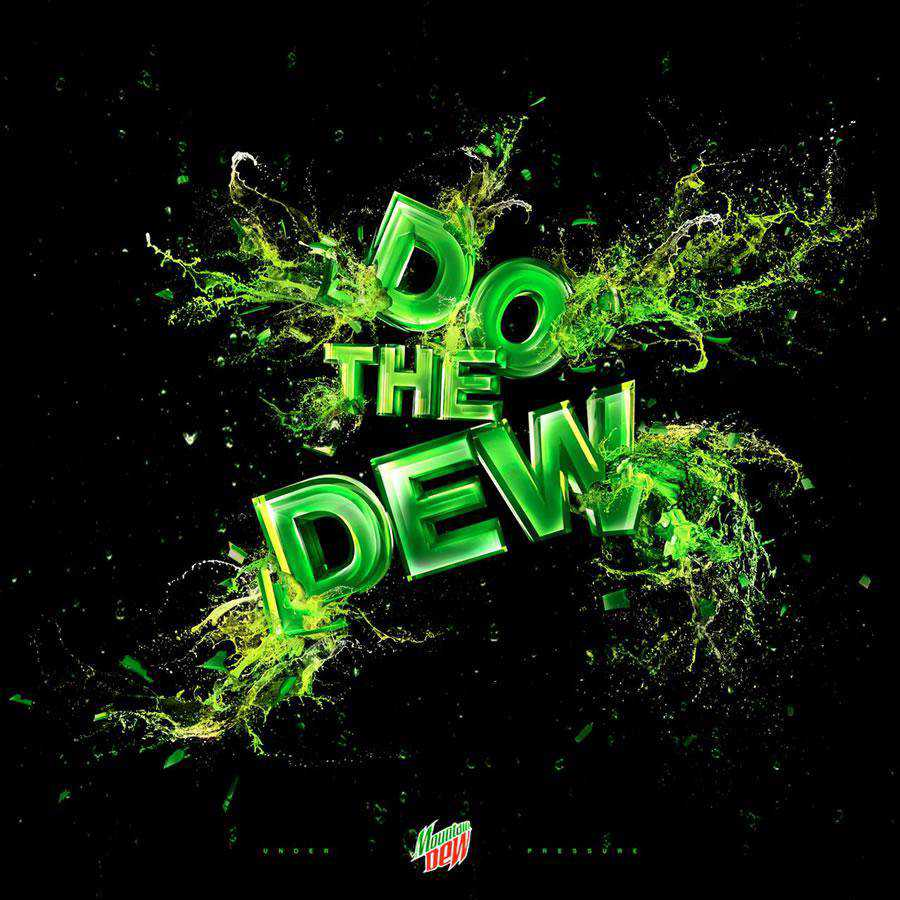 The Mountain Dew inspirational typography print ads