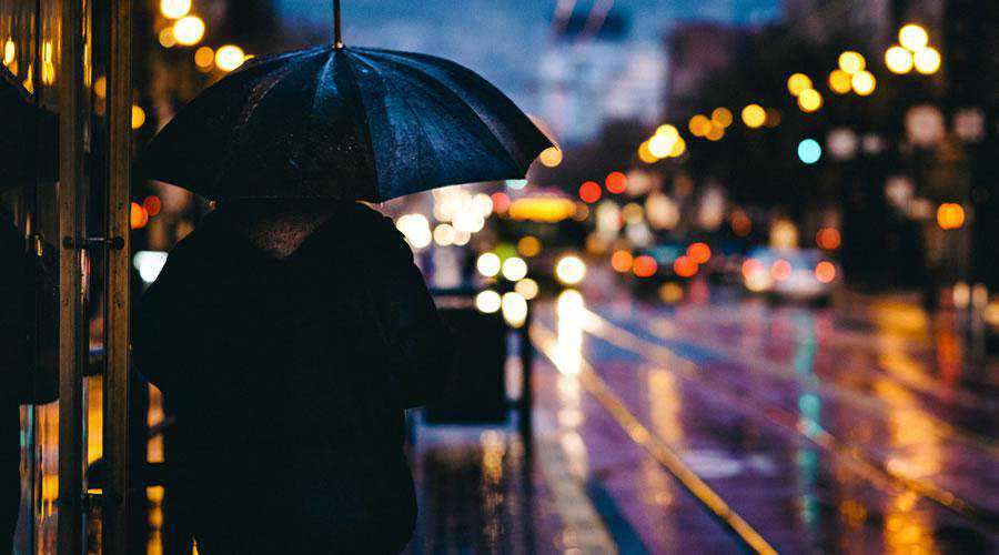 Rainy Street in Evening lights bokeh photography inspiration