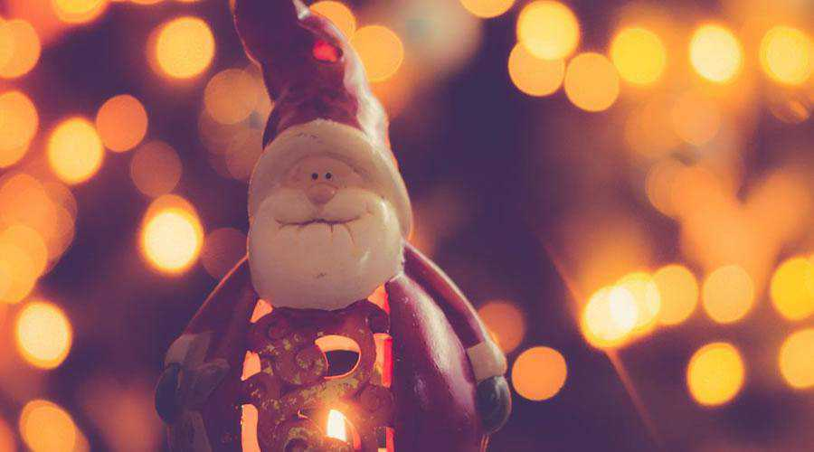 Santa Candle Decoration lights bokeh photography inspiration