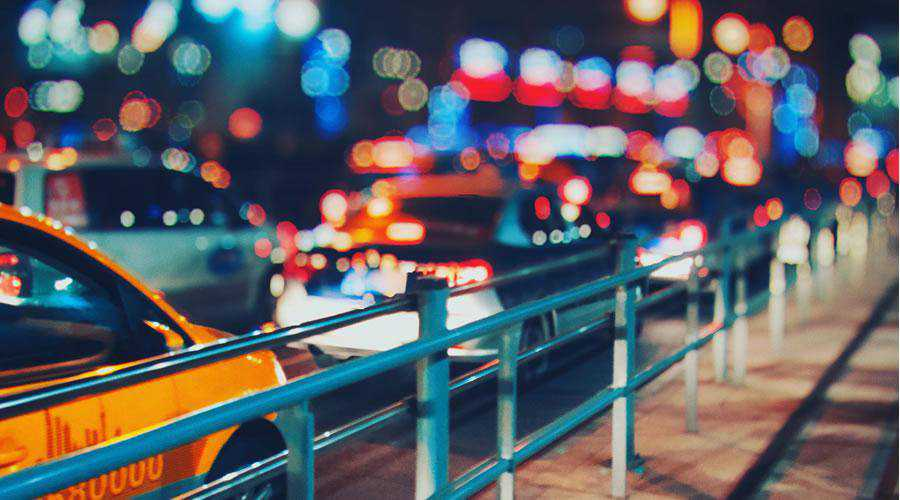 Traffic at Night lights bokeh photography inspiration