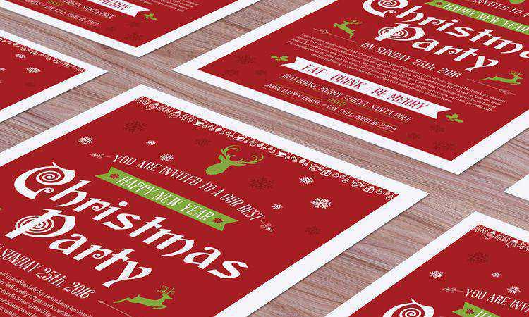 Free Christmas Flyer Mockup free holidays
