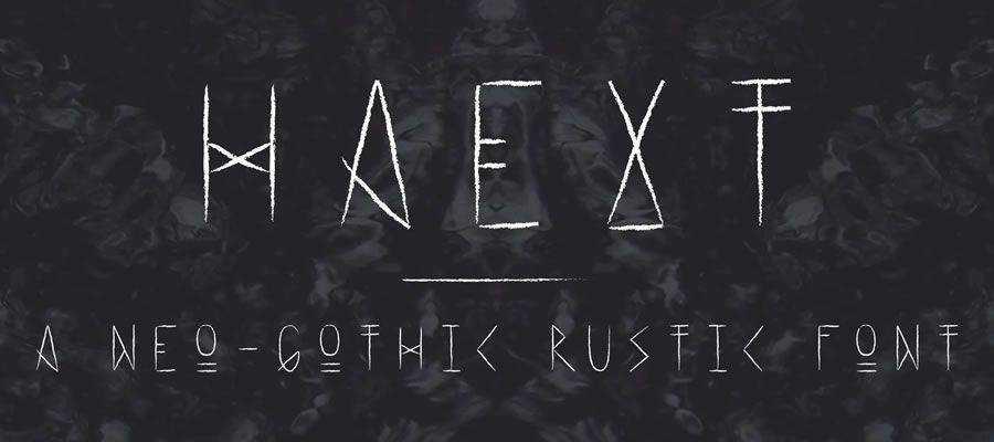 Haext Regular free gothic font family