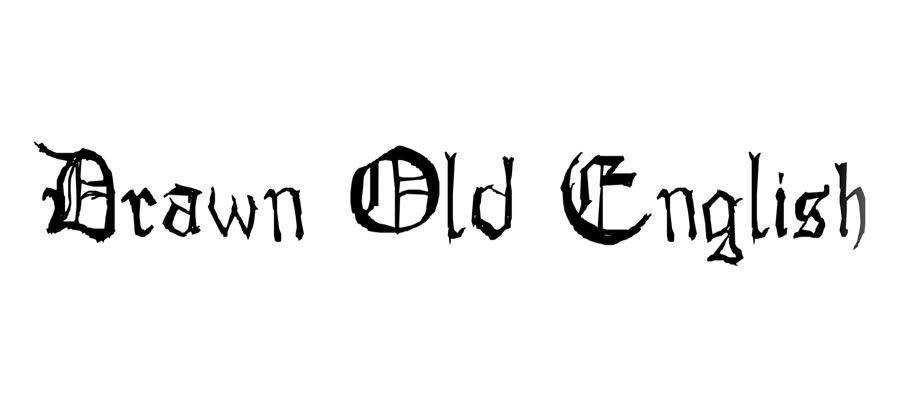 Drawn Old English free gothic font family
