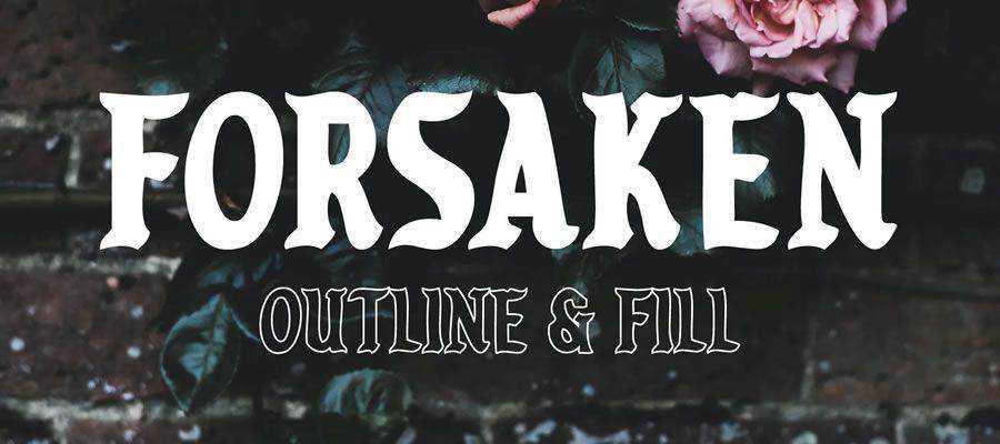 Forsaken free gothic font family