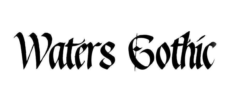 Waters free gothic font family