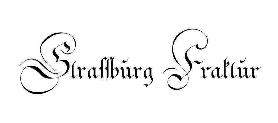 Strassburg Fraktur free gothic font family
