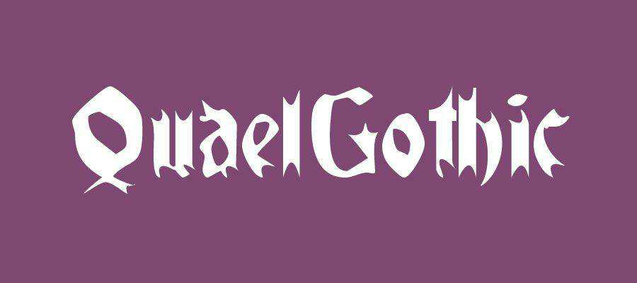 Quael Gothic free gothic font family